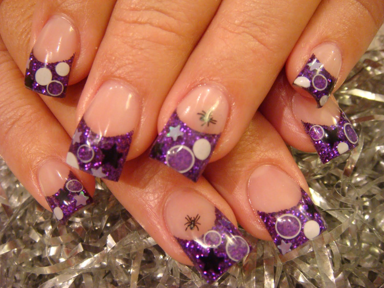 Acrylic Nails With Rhinestones | These are nails acrylic that I did ...