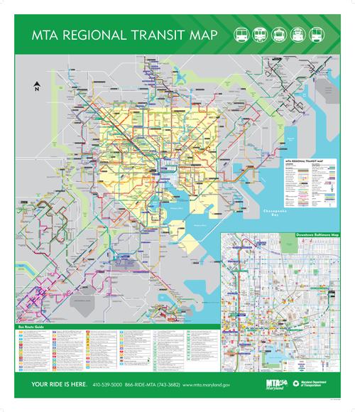 maryland light rail map Maryland Mta System Map Mta Regional Transit Map Transit Map maryland light rail map