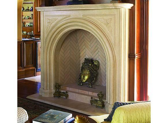 The Chateuroux Stone Fireplace Mantel Limestone Mantel Fireplace