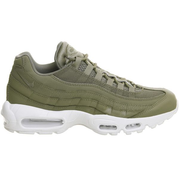 Nike Air Max 95 Trainers Trooper White ($155) ❤ liked on Polyvore ...