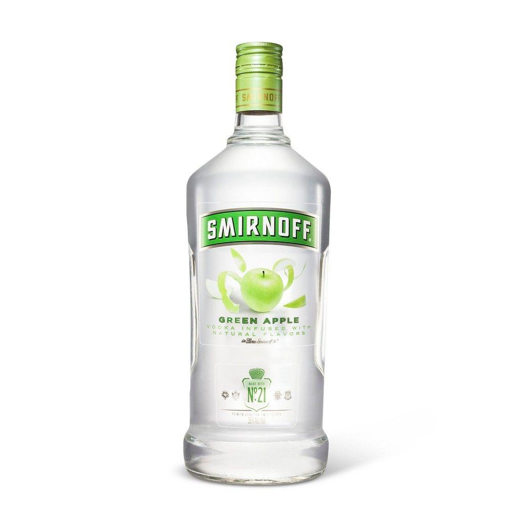 Smirnoff Green Apple Vodka 1 75l Bottle Apple Vodka Green