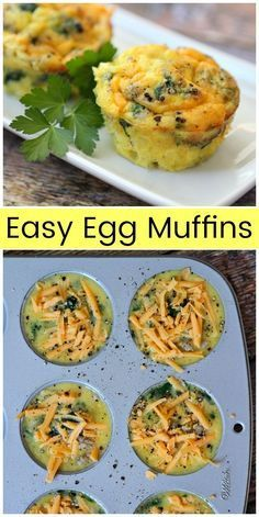 Easy Egg Muffins are a healthy breakfast recipe from  via @recipegirl |  These Easy Egg Muffins are a healthy breakfast recipe from  via @recipegirl |
