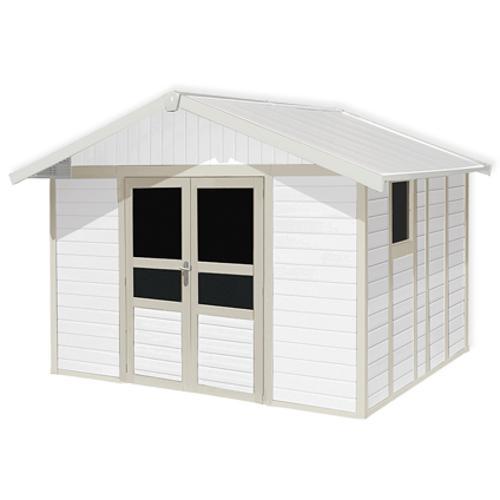 Grosfillex Tuinhuis Basic Home 11 Pvc Wit/grijs/groen 10
