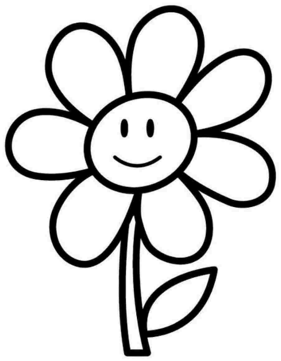 Free Daisy Flowers Colouring Pages For Preschool