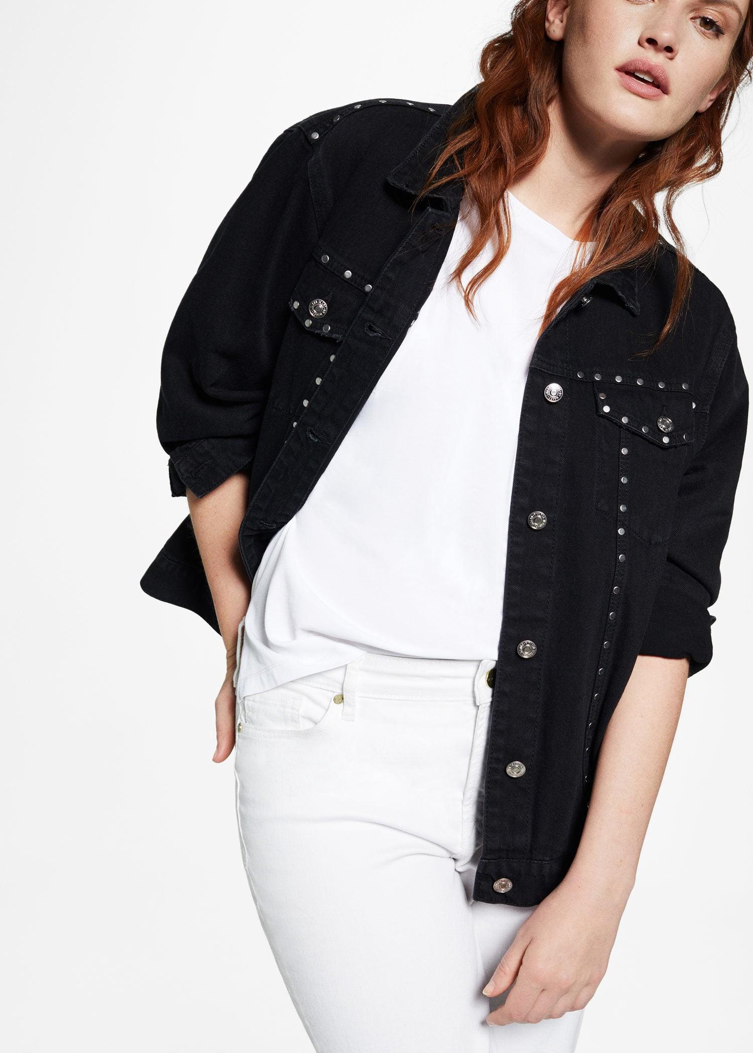 a061e35691fc24 Mango Studded Denim Jacket - Plus Sizes | Violeta By XS | Products ...