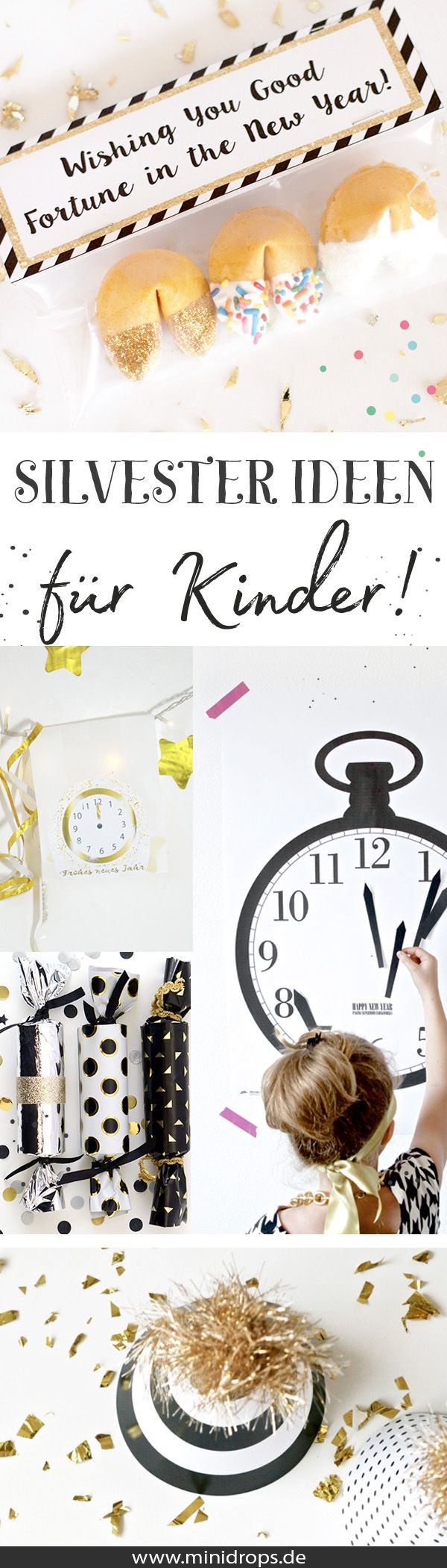 silvester mit kindern feiern tipps und ideen minidrops diy party ideen pinterest. Black Bedroom Furniture Sets. Home Design Ideas