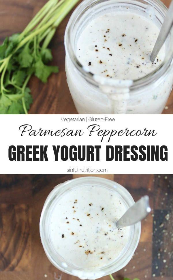 Greek Yogurt Parmesan Peppercorn Dressing Sinful Nutrition Recipe Greek Yogurt Salad Dressing Greek Yogurt Recipes Greek Yogurt Dressing Recipes