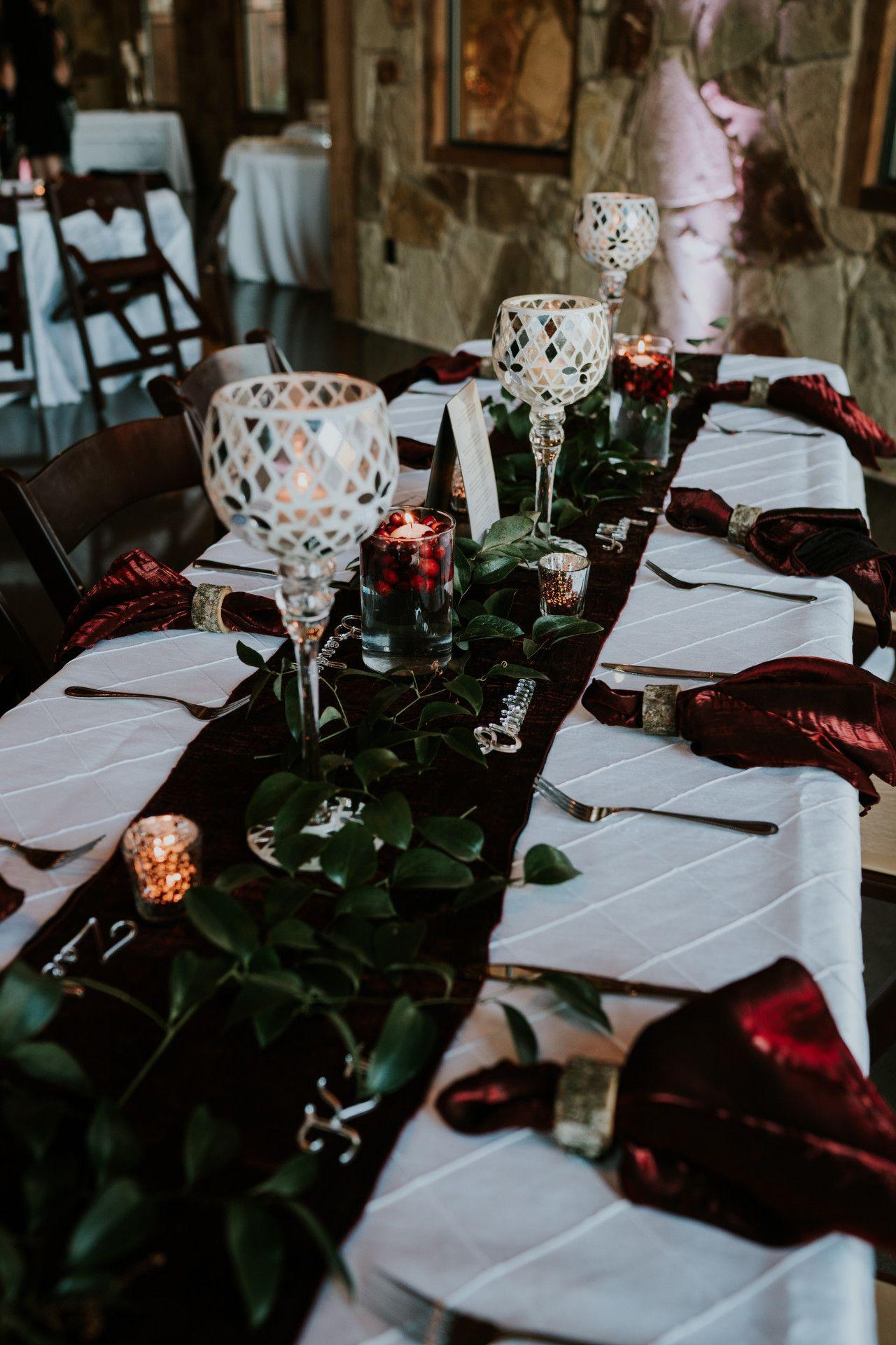 Lodge Wedding Venue In Denton Texas Winter Wedding Table Decorations Winter Wedding Table Bohemian Wedding Decorations