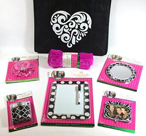 NEW Uptown Locker Accessories Bundle includes 7 items: Locker Lookz Fur Rug, Magnetic Dry Erase Board, Mirror, Bin, Flower, Frame plus BONUS Custom Heart Tote. Just in time for Christmas! Locker Lookz http://www.amazon.com/dp/B017JKJPSQ/ref=cm_sw_r_pi_dp_w-Kqwb0YGKQ4R