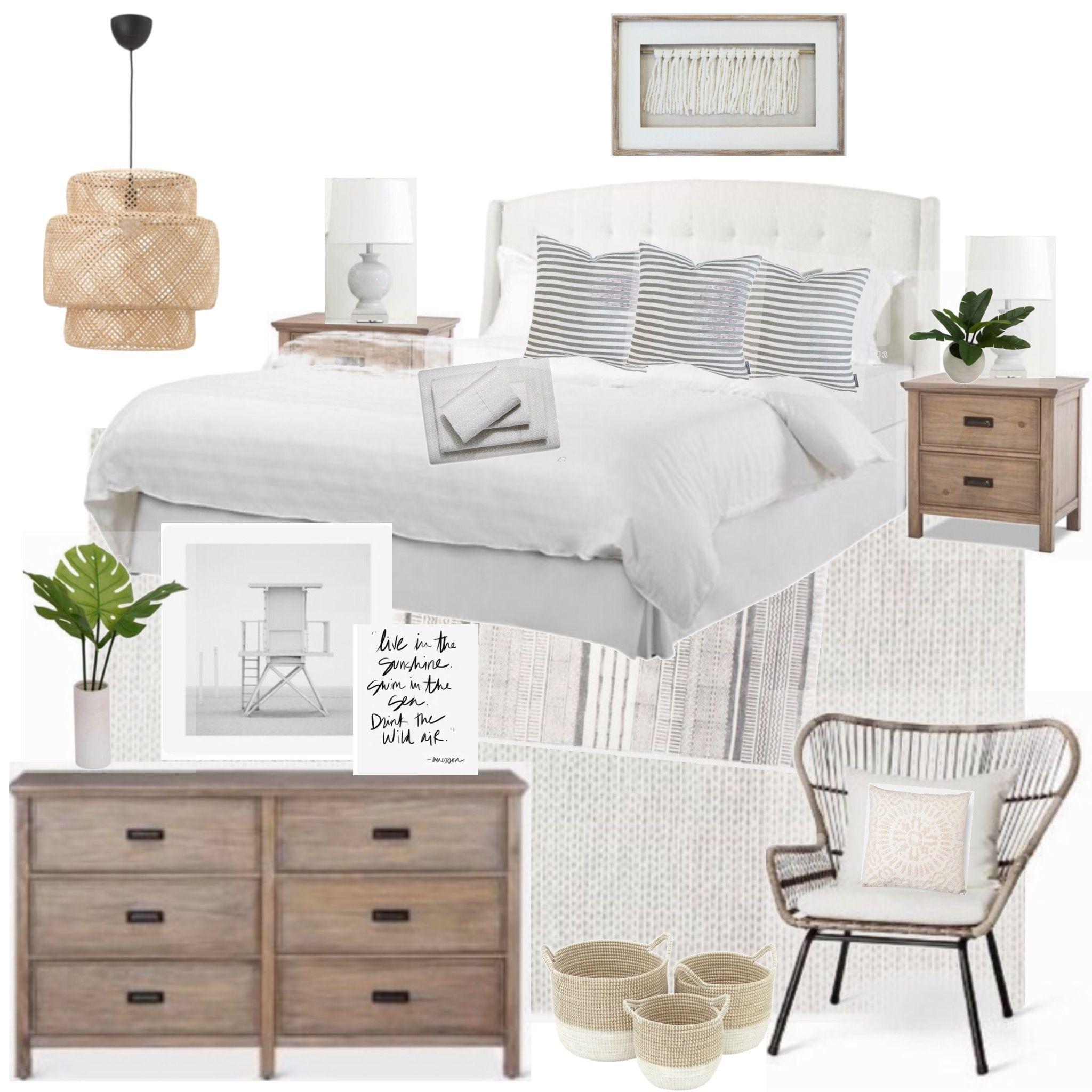 Designsixtyfive Bedroom Mood Board Modern Coastal Boho Beach