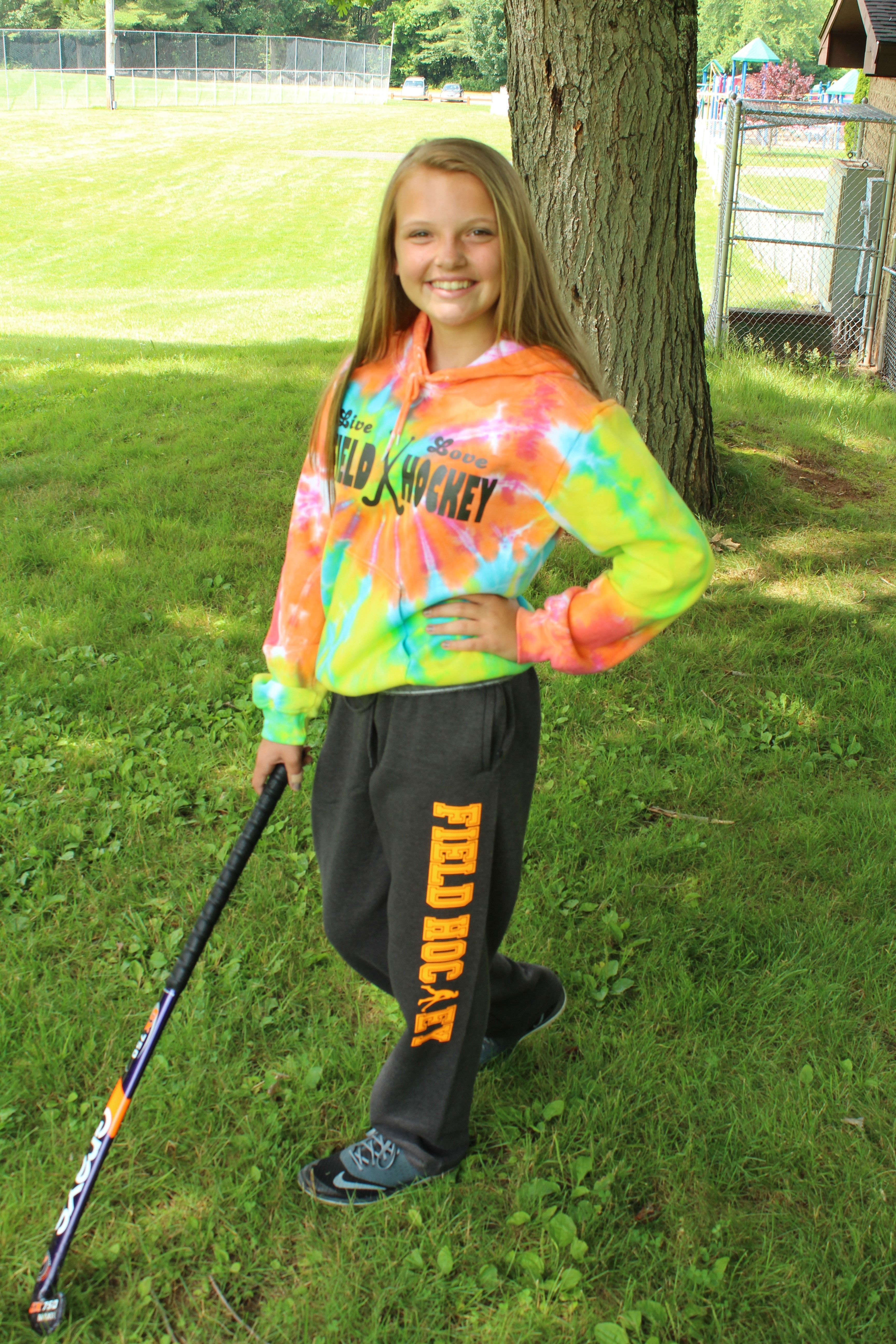 One Of Our Field Hockey Players Sporting Our Sweatpants And Hoodie This Is The Perfect Warm Up Outfit Mix Field Hockey Outfits Hockey Clothes Hockey Outfits