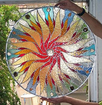 Mandalas - Glastonbury Stained Glass