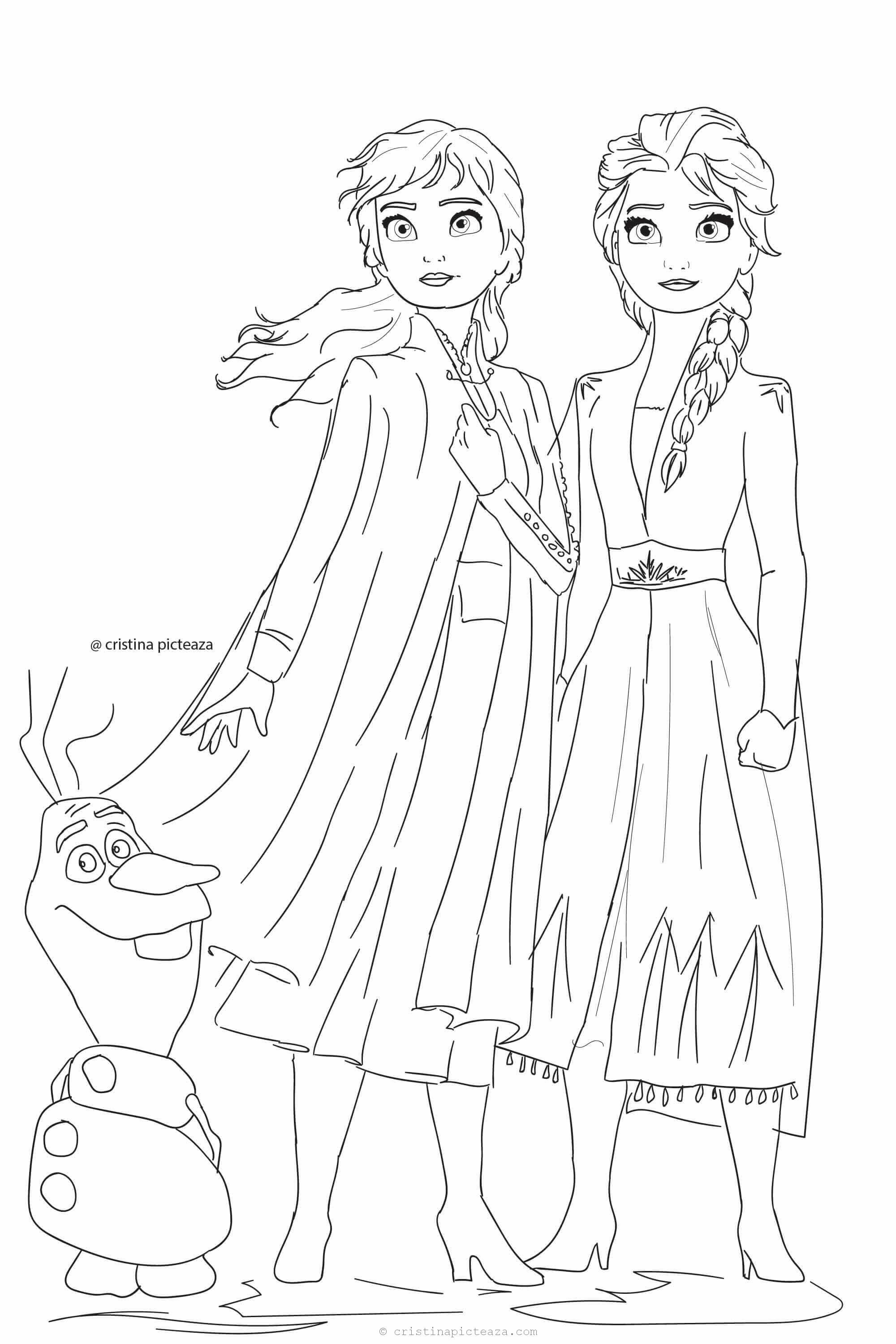 Frozen 2 Coloring Pages Ana In