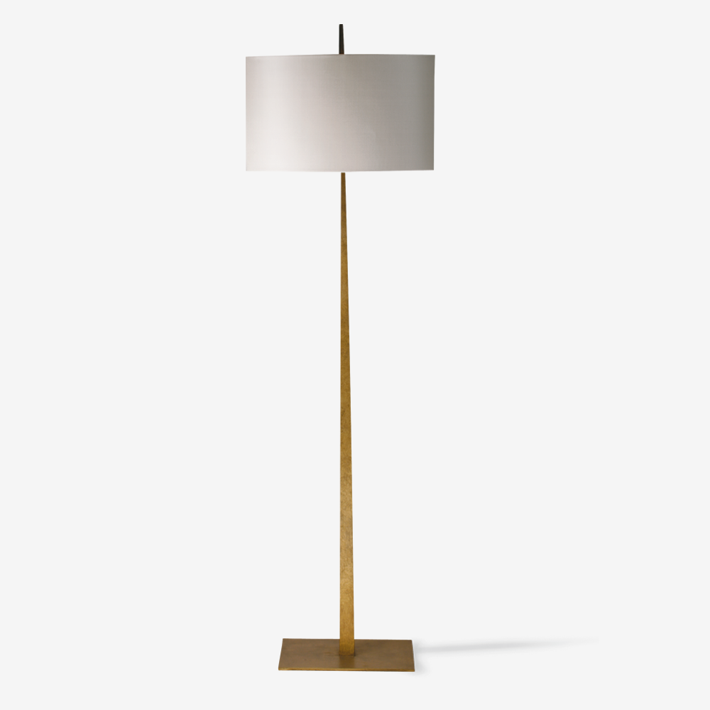 Porta Romana Mfl37 Tapering Harral Floor Lamp French Brass