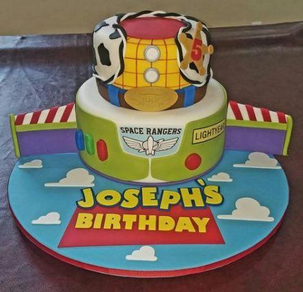 Wondrous Pin By Stephanie Yolanda On One Year Toy Story Birthday Cake Personalised Birthday Cards Fashionlily Jamesorg