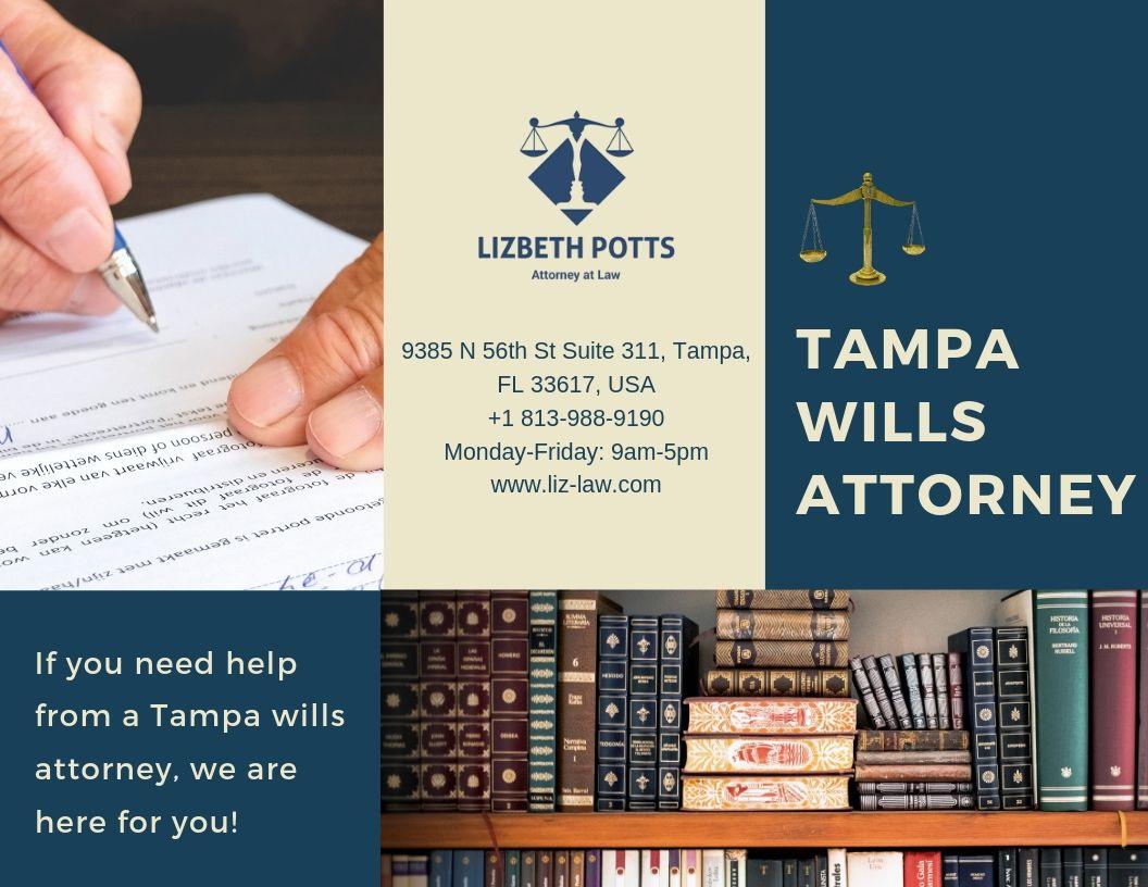 Lizbeth Potts is a wellestablished wills attorney service