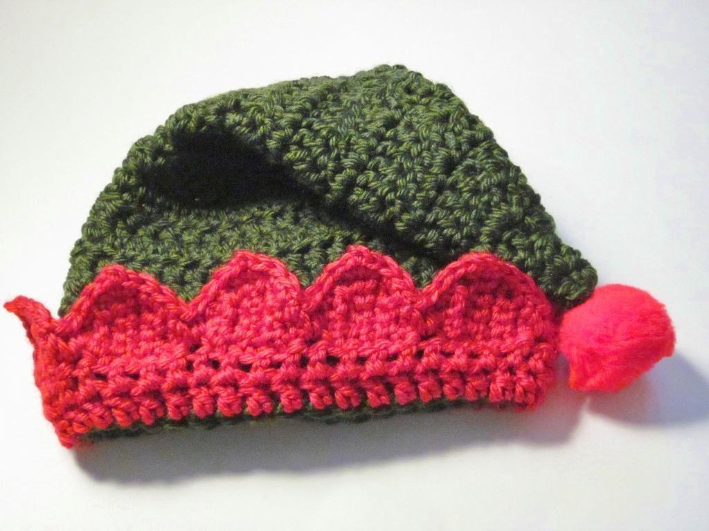 Santa\'s Little Elf Hat   Gorro tejido, Tejido y Tablero