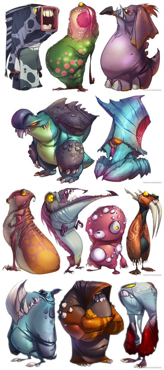 Monsters by   http://3dcharacterscollections176.blogspot.com