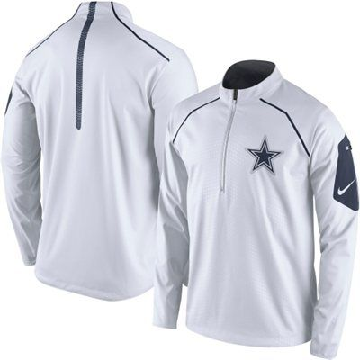 separation shoes eb029 73ac8 Dallas Cowboys Nike Alpha Fly Rush Half-Zip Jacket - White ...