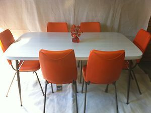 Retro Vintage 60S Namco Laminate Dining Table 6 Chairs Mid Century Pleasing Laminate Dining Room Tables Decorating Inspiration