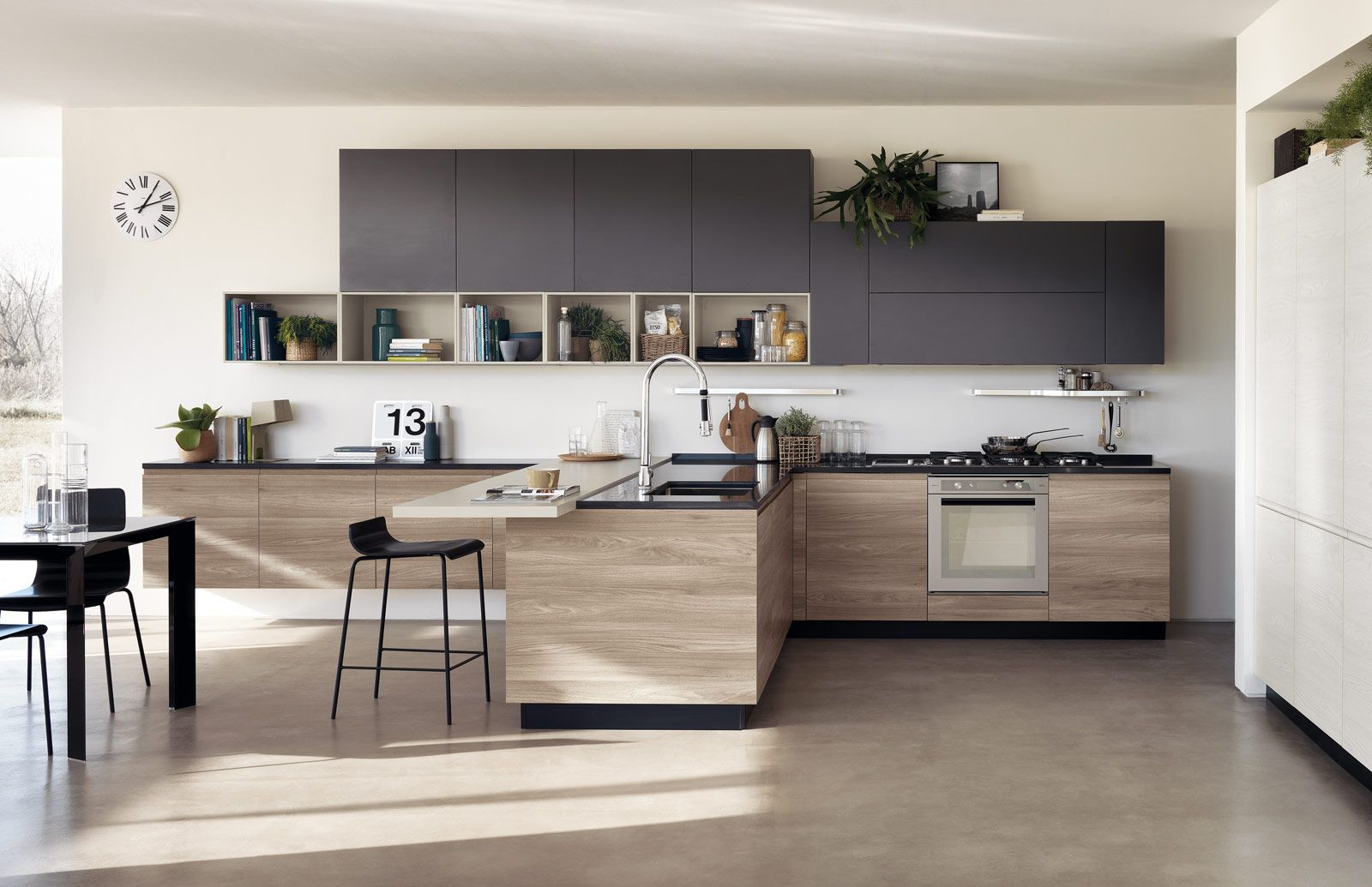Cucine effetto legno per un ambiente caldo ed elegante | Kitchens ...
