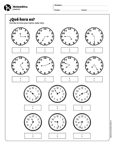 Qué Hora Es Matematicas Tercer Grado Material Didactico Primaria Actividades De Matematicas