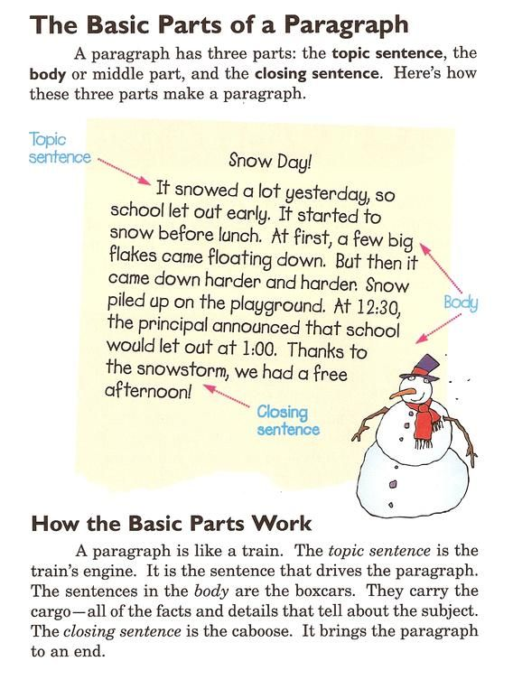 Basic Parts Of A Paragraph Teachenglish