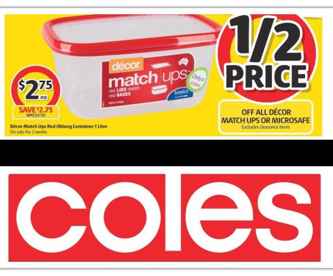 Decor Matchups And Microsafe Containers Are Halfprice This Week