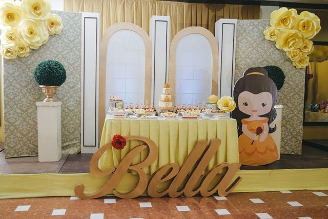 Princess Belle Party Decorations Bella's Princess Belle Themed Party  Stage  Disney Beauty And