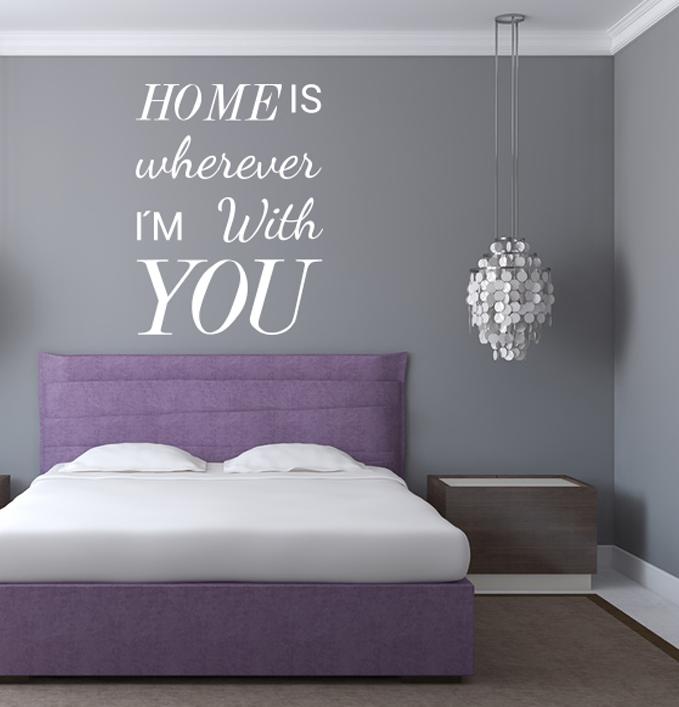 Wandtattoo - Home is wherever #home #love #spruch #sprüche ...