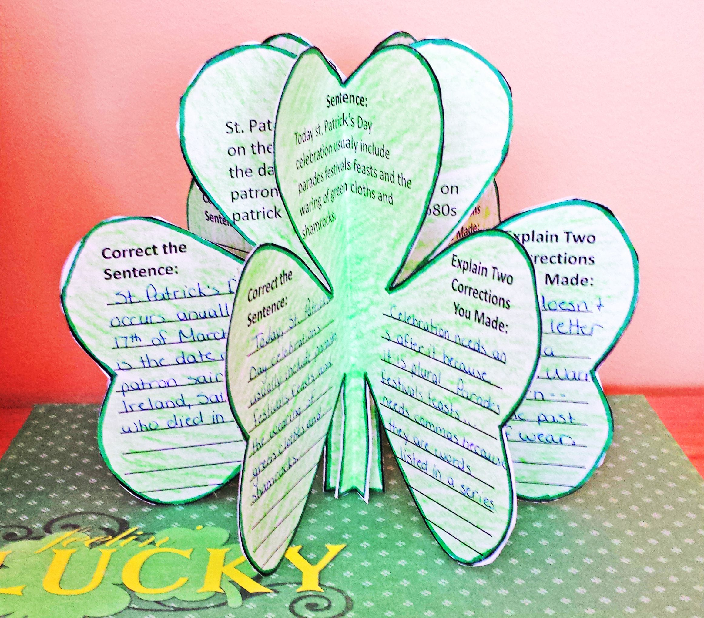 St Patrick S Day Craftivity