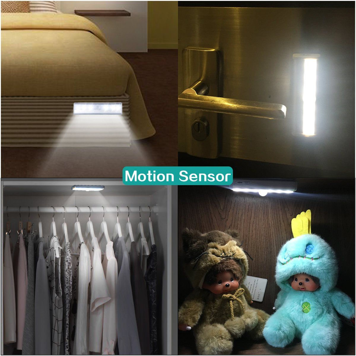 Closet lights leds mini size motion sensor night light wall