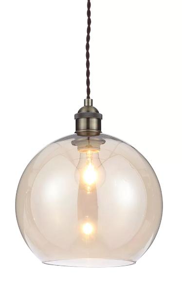 474d6658801b Matalan - Gaspra Glass Pendant Light   Barn conversion in 2019 ...