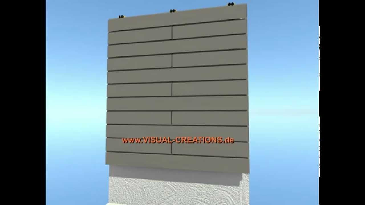 WPC Fassaden System Haus Gebäude Wandverkleidung Mauer