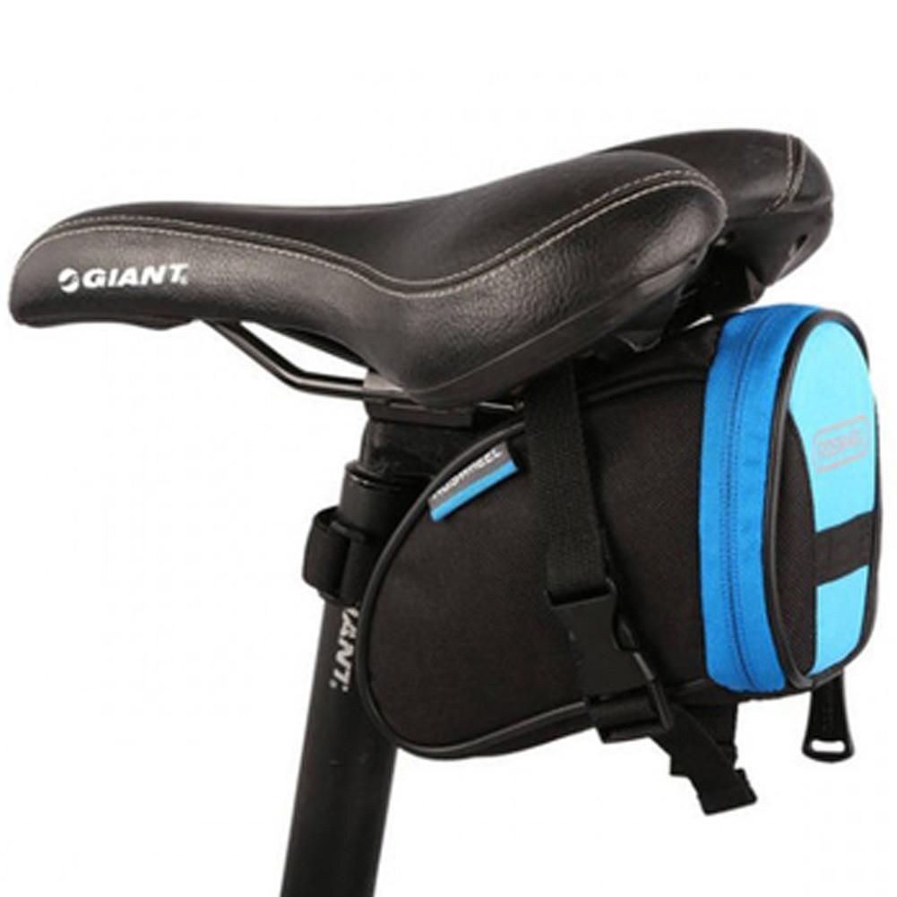 Blue Black Cycling Seat Bag Bicycle Saddle Under Pack Bike Pouch