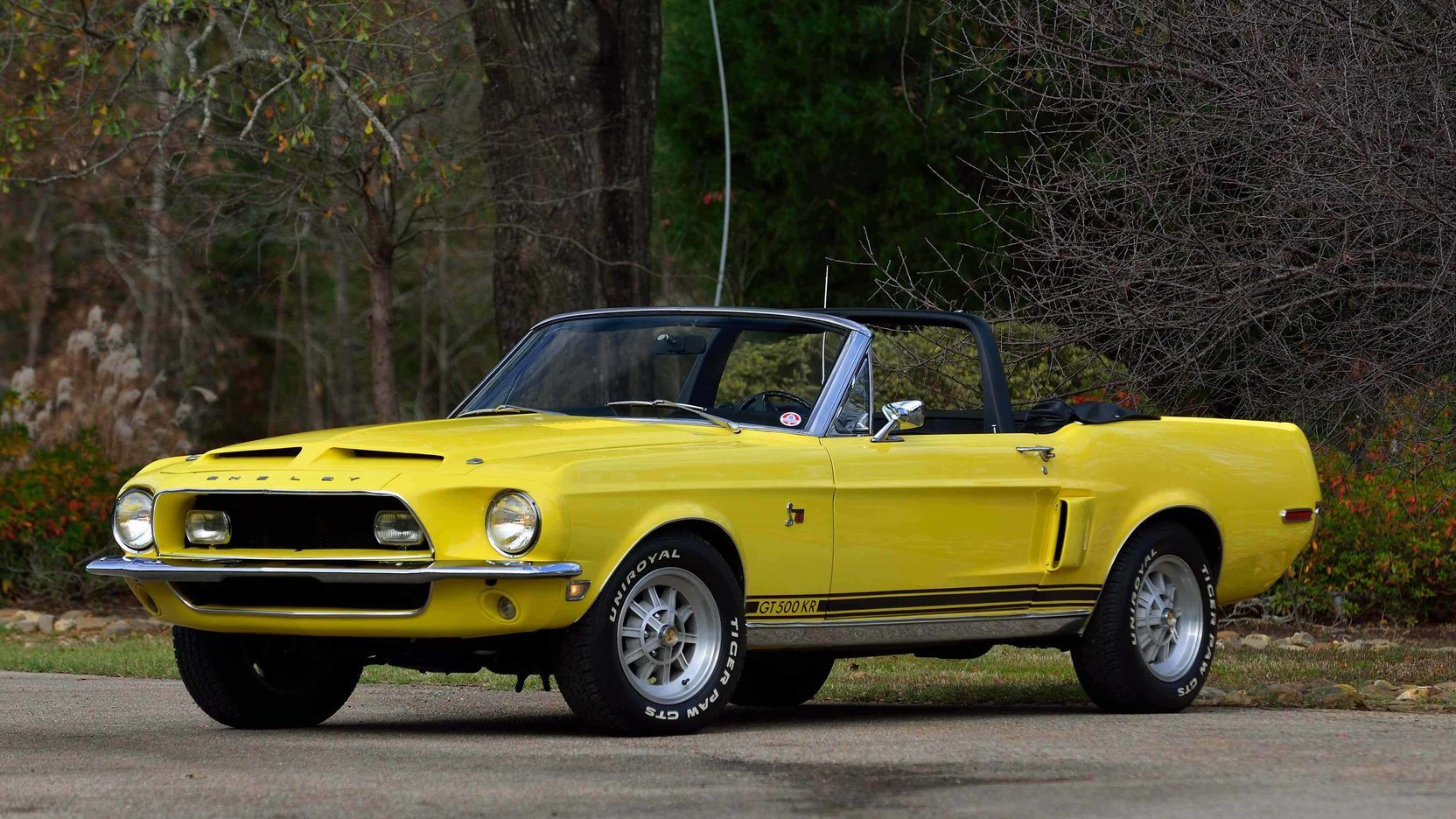 1968 ford mustang shelby gt 500kr convertible in special yellow shelby 3546