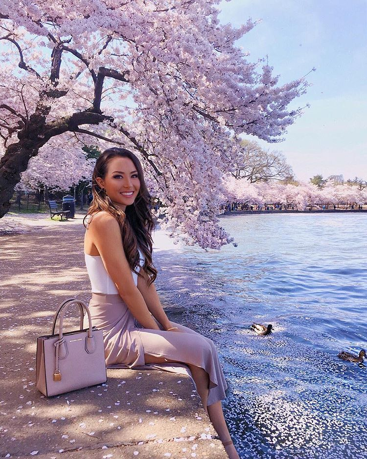 The Cherry Blossoms Are In Full Bloom Right Now Tb To Last Year In Dc Who Went This Year Also Huge Congrats To G Jessica Ricks American Style Fashion
