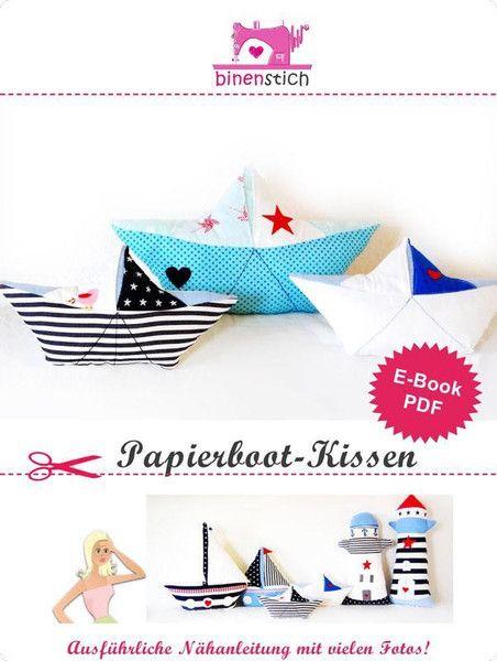 Papierboot Kissen Nahen E Book Anleitung Papierboot Kissen Nahen Papierschiff Falten