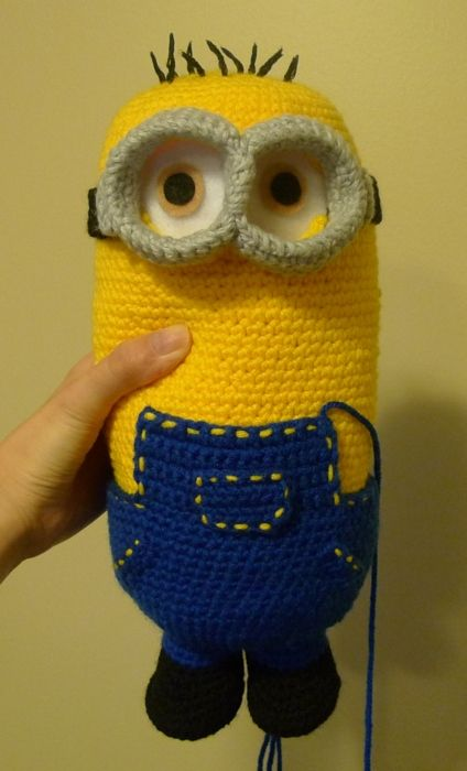 Despicable Me Minion Finally Finished Pinterest Crochet Stunning Free Minion Crochet Pattern