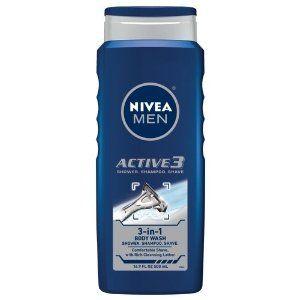 Nivea For Men Active3 Body Wash for Body, Hair