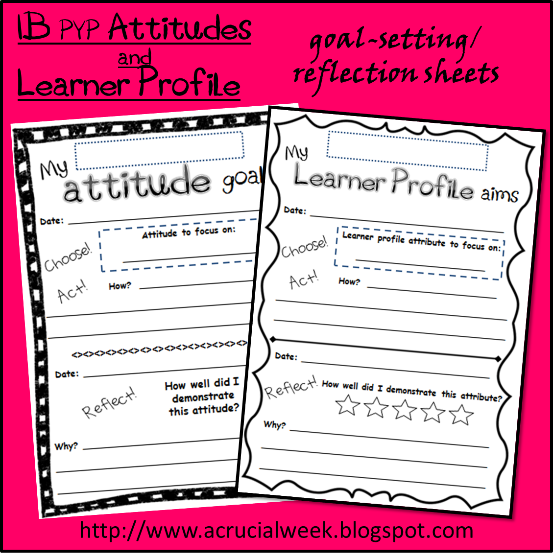 A Crucial Week: Learner Profile and IB PYP Attitudes goal-setting ...