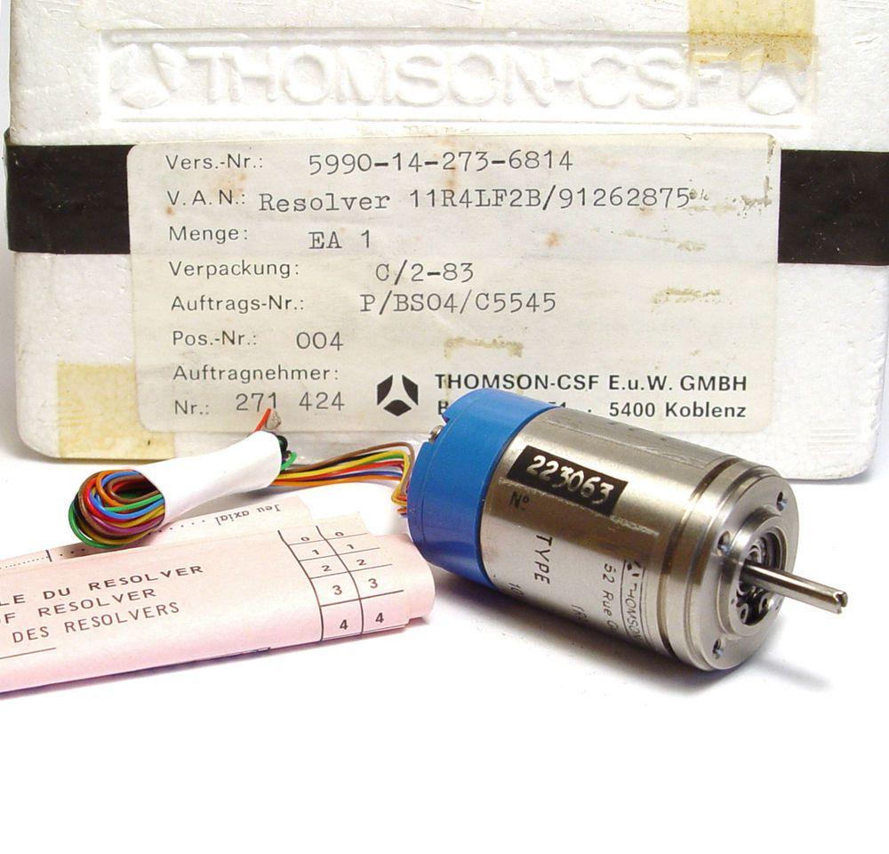 Thomson CSF Synchro Transmitter / Resolver 11 R4 LF 2B, 10V / 400Hz, NOS
