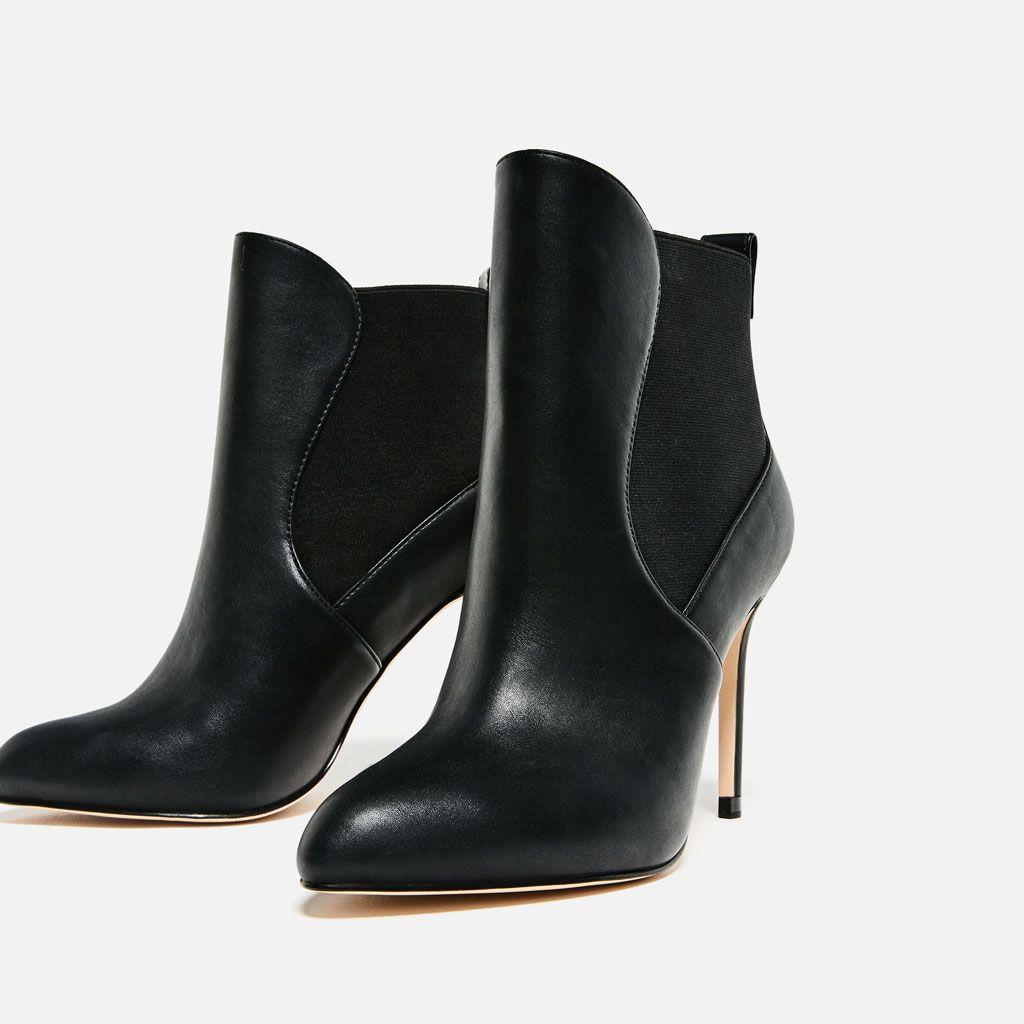 image 1 de bottines À talon Élastiques de zara | shoes | pinterest