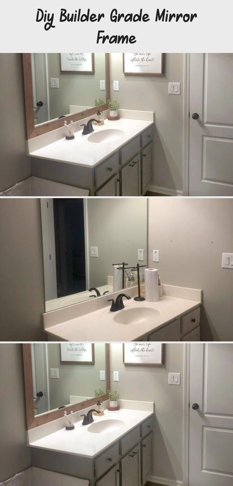 Diy Builder Grade Mirror Frame Builder Grade Round Mirror Bathroom Mirror Frames