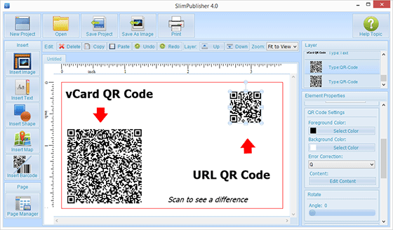 How to create a right size of qr code on your business card qr codes related articles use slimpublisher qr code generator to add barcode to your business cards and add artistic qr code to your business card letterhead colourmoves Images