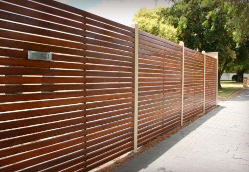 Resultado de imagen para horizontal wood fence