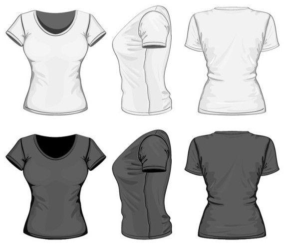 Free Dark And White Women T Shirt Vector Mockup Titanui T Shirt Design Template Tshirt Designs T Shirts For Women