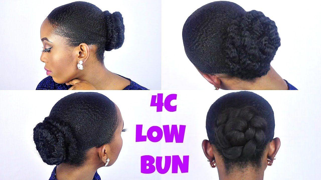 How To Sleek Low Bun Tutorial On Short Twa 4c Natural Hair Natural Hair Styles Short Natural Hair Styles 4c Natural Hair