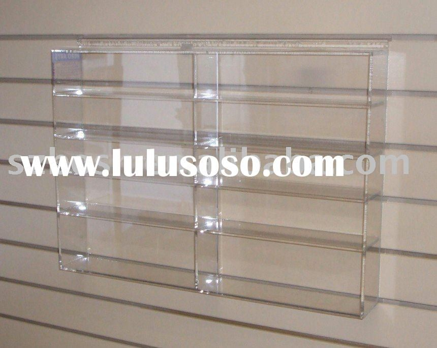 Wall Mounted Acrylic Display Shelf Plexiglass Book Stand