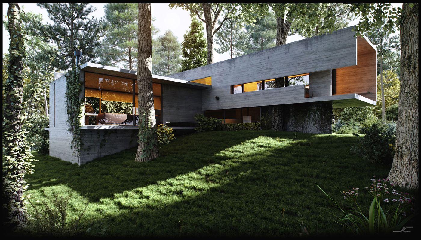 Jd house on behance ideal abodes pinterest architectuur